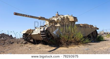 Centurion Tank Left Of The Yom Kippur War