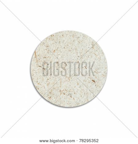 Kraft Paper Round Bubble On White Background