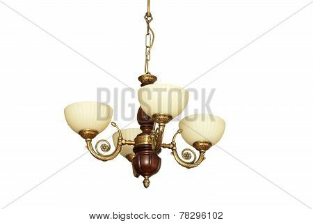 Vintage Isolated Chandelier