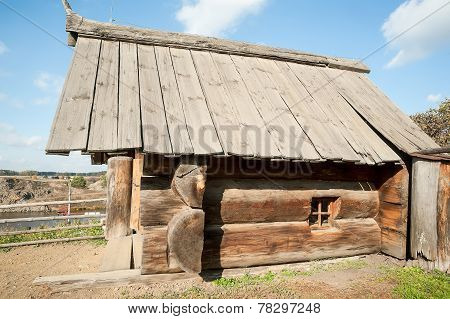 Russian sauna from big logs