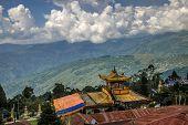 stock photo of sherpa  - Exterior of Sonada Monastery Darjeeling - JPG