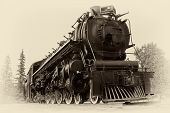 Vintage Style Photo Of Steam Train