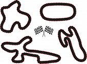 stock photo of chassis  - An Illustration Set of Different Race Tracks 1 - JPG