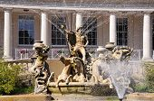 foto of municipal  - Neptune fountain outside the Municipal offices along the Promenade Cheltenham Gloucestershire England UK Western Europe.