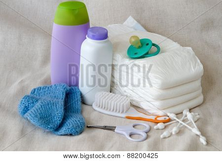 Group of things for baby