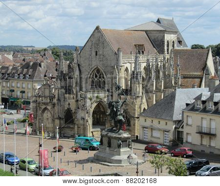 View of Falaise, France