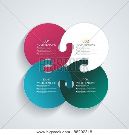 Business Infographics Circle Style.