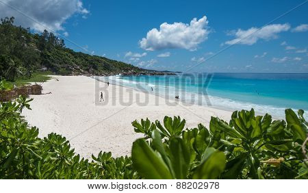 Petit Anse Tropical Beach, La Digue Island, Seychelles