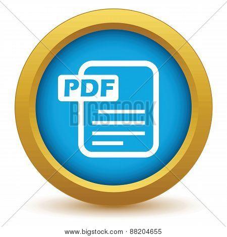 Gold pdf icon