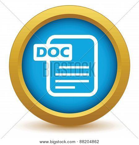 Gold doc icon