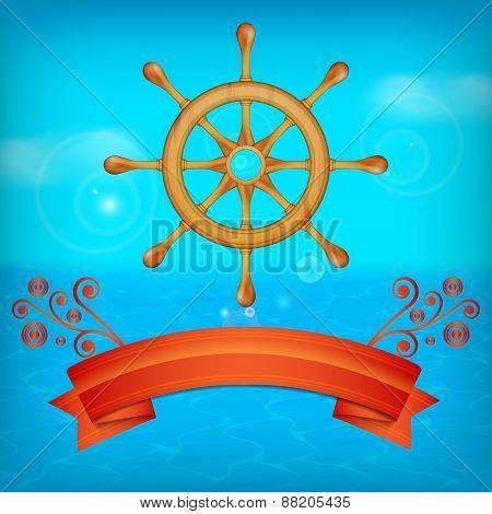 Steering wheel for ship