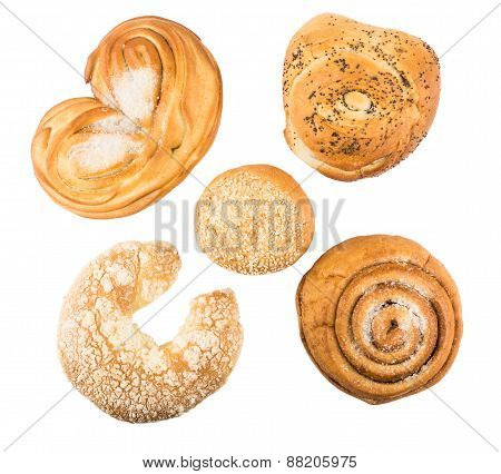 Various Baking Some Delicious Sweet Rolls