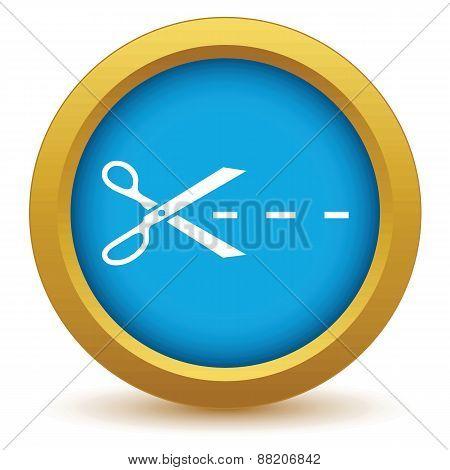Gold cut icon