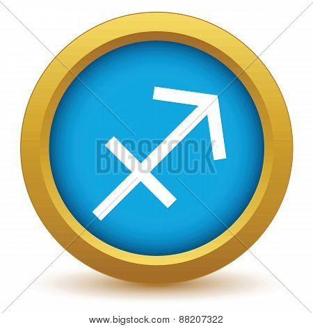 Gold Sagittarius icon