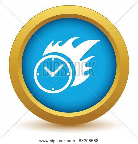 Gold hot clock icon