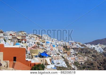 Village Of Ia In Santorini, Greece