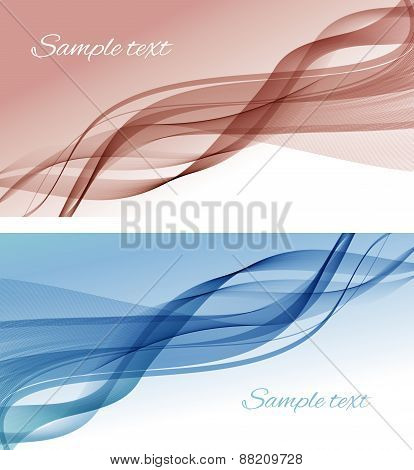 Abstract color smoke vector background.