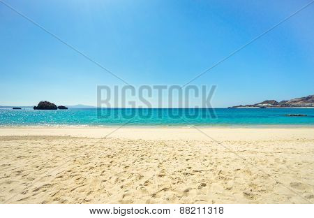 Beautiful Beach With Clear Sky