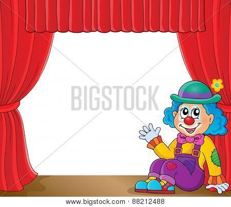 Sitting clown theme image 2 - eps10 vector illustration.