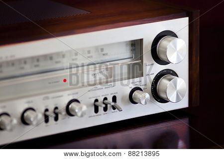 Vintage Stereo Radio Receiver Volume Knob