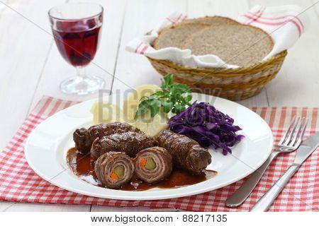 rinder rouladen, beef olive, german beef roll