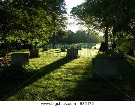 Cemetary At Sunrise