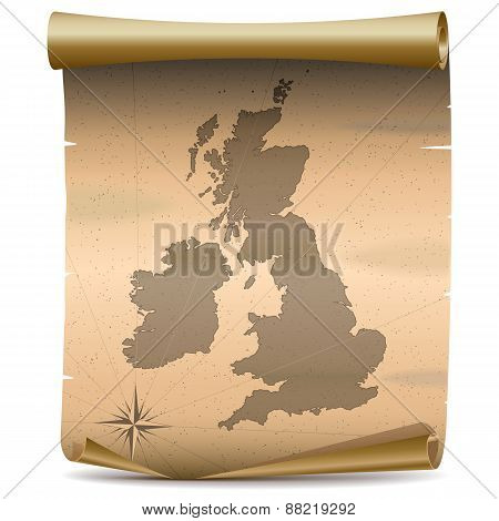 Vector United Kingdom Vintage Map