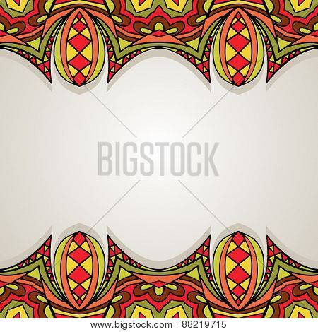 Decorative Background With Bright Border