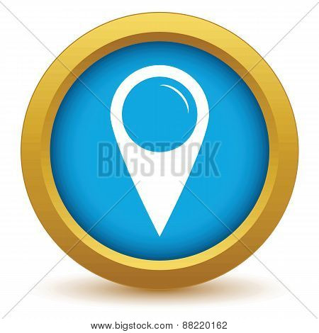 Gold pointer icon