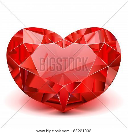Vector Ruby Heart