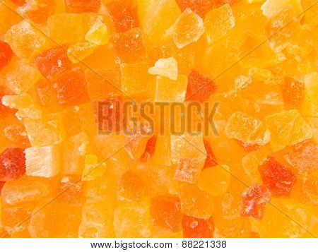 multicolor texture of small pieces dried fruits