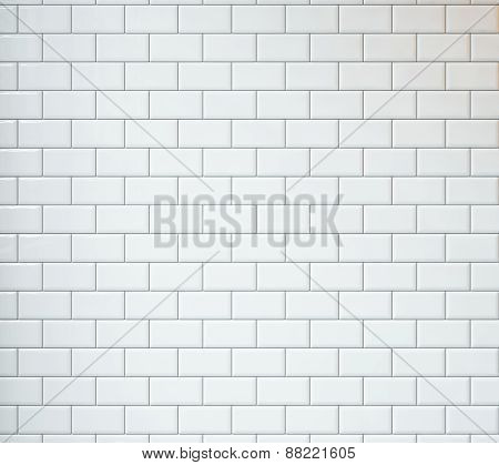 White Vintage Tiles Background