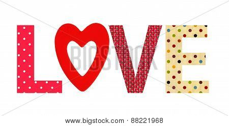 Textile Letter Love Isolated On White