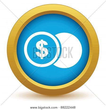Gold dollar coin icon