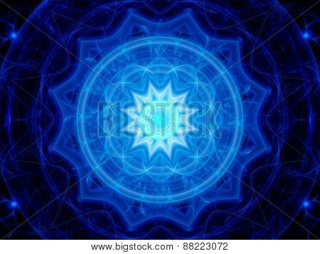 Blue Magical Space Mandala
