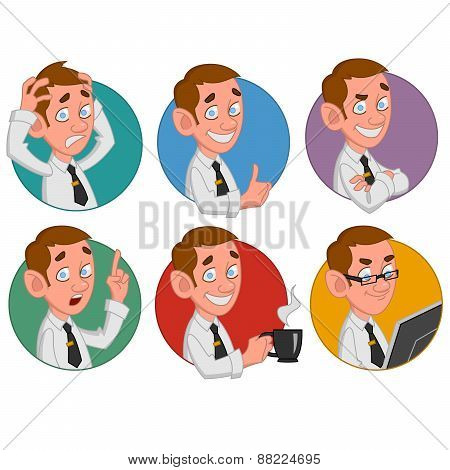 Avatars of office worker.