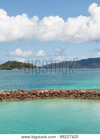 Pier On The Island Of Praslin