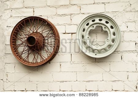 two car alloy wheels
