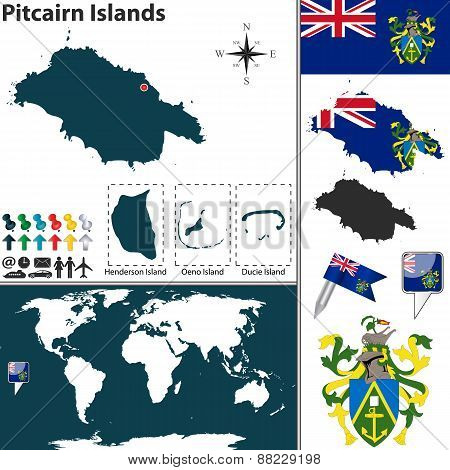 Map Of Pitcairn Islands