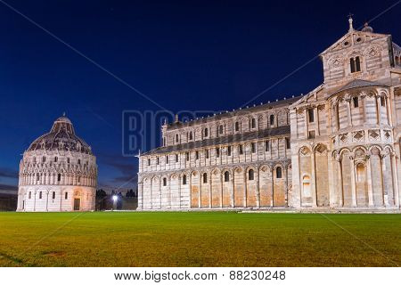 Piazza dei Miracoli with Leaning Tower of Pisa, Italy