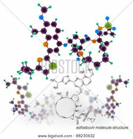 Simeprevir Molecule Structure