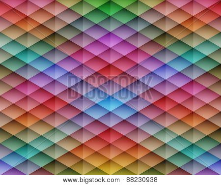 Colorful mosaic seamless vector background. Graphic pattern with rhombus elements. Vector illustration