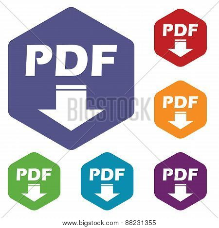 Pdf download rhombus icons
