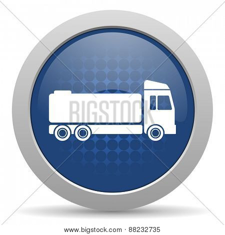 truck blue glossy web icon