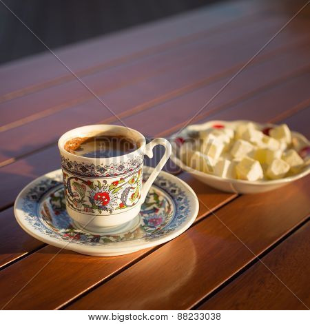 Concept Of Turkish  Coffee Accessories