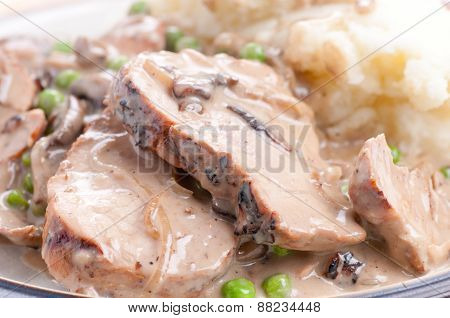 Pork Tenderloin With Mushroom Gravy