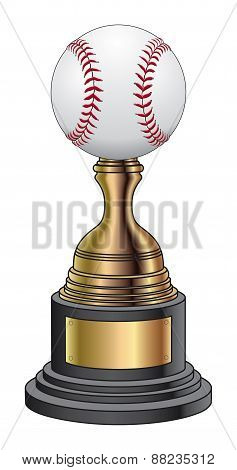 Baseball Trophy - Gold and Black Base