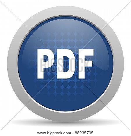 pdf blue glossy web icon