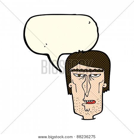 cartoon angry face with speech bubble