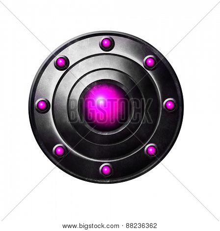 Pink Metal button